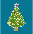 christmas tree paper cut out isolated xmas fir vector image vector image