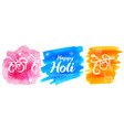 colorful happy holi background for festival of vector image vector image