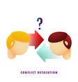 conflict resolution flat gradient vector image