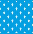 corncob pattern seamless blue vector image