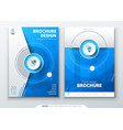 cover set blue template for brochure banner vector image