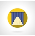 Curtains decor round flat icon vector image vector image