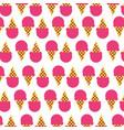 delicious ice cream pattern vector image