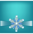 Diamond snowflake with ribbon vector image vector image