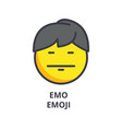 emo emoji line icon sign on vector image