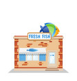 fish street shop vector image