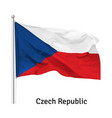 flag czech republic vector image