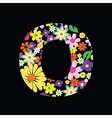 floral o vector image