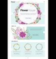 Floral website template banner and infographic 3 vector image