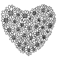 flower heart shaped 1 vector image
