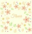 flower ornament background concept vector image