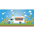 food truck business money gold coin vector image vector image