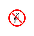 forbidden sitting icon can be used for web logo vector image vector image