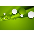Green smooth stripes and circles design vector image vector image