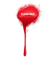 grunge blood drip vector image vector image
