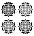 halftone circles of dots stars squares heart vector image vector image