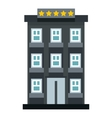 Hotel icon flat style vector image