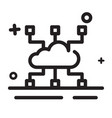 icon cloud computing icon cloud hosting icon vector image
