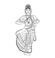 indian dancing woman vector image