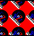 jazz concept vinyl record piano keyboard and vector image