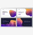 landing page templates set for business vector image vector image