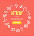 lotto signs round design template line icon vector image vector image