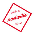 made in nashville rubber stamp vector image vector image