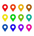 map pin flat icon set vector image vector image