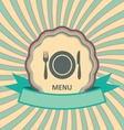 Menu retro label vector image vector image