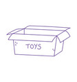 open cardboard box toy empty icon design white vector image