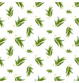 organic seamless pattern with eucalyptus leaves vector image vector image