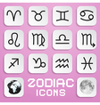 Paper Zodiac Horoscope Square Symbols on Pink vector image vector image
