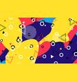 pop art backdrop memphis pattern hipster style vector image