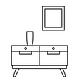 room drawer icon outline style vector image