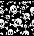 seamless pirate theme background 1 vector image