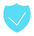 security shield silhouette icon minimal pictogram vector image