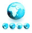 set of earth globe vector image vector image