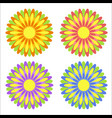 set of flat isolated colored yellow red purple vector image