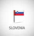 slovenia flag pin vector image vector image