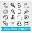 Social media icons set 7 vector image vector image