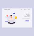 social media marketing digital marketing online vector image
