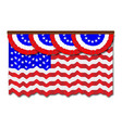 stars and stripes flag and bunting vector image vector image