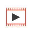strip film play movie cinema symbol vector image vector image