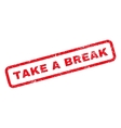 Take a Break Rubber Stamp vector image vector image