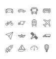 transport set icon outline transportation vector image