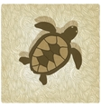 turtle old background vector image vector image