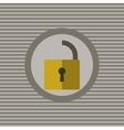 Unclassified the lock flat icon vector image