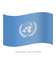 united nations waving flag icon vector image