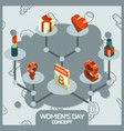 womens day color concept isometric icons vector image vector image