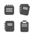 Notepad icon in a flat design isolated vector image